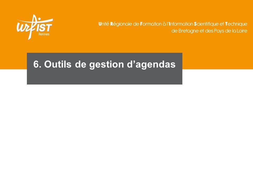 97 6. Outils de gestion d'agendas