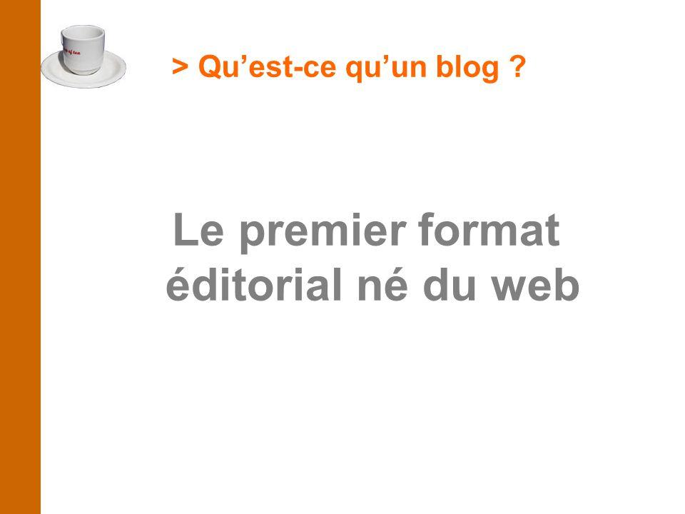 > Qu'est-ce qu'un blog Le premier format éditorial né du web