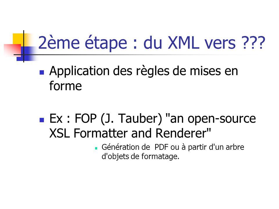 Ou du XML vers On peut directement générer du HTML. ou un document dans un langage ad- hoc.