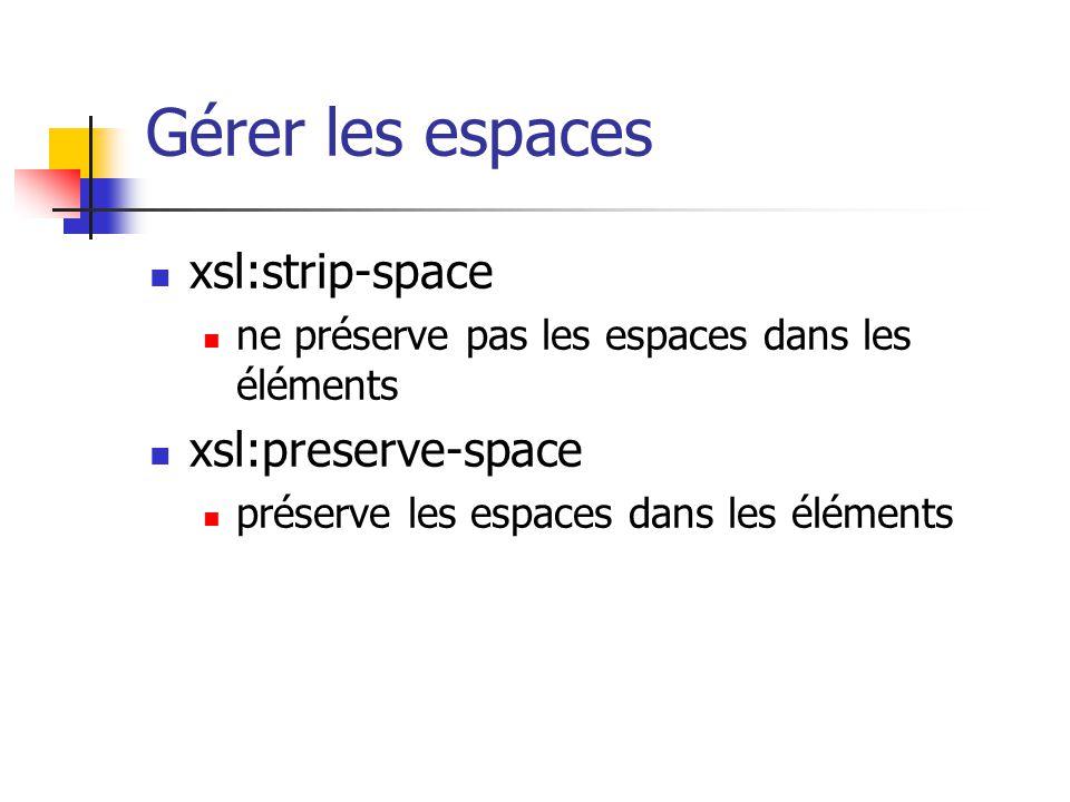 Modulariser sa stylesheet Inclut textuellement la stylesheet référencée.