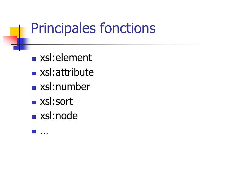 XSL : des fonctions