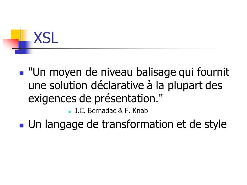 XSL : principe général
