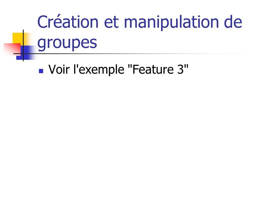 Plusieurs formats de sortie Définition de plusieurs transformation dans une seule feuille de style Permet de générer automatiquement un fichier par sortie Voir exemple Feature 2