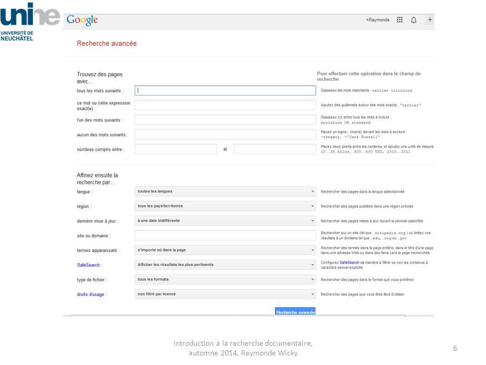 Google, je l'utilise beaucoup, mais … Cherchez-vous dans google.ch ou bien dans google.com .