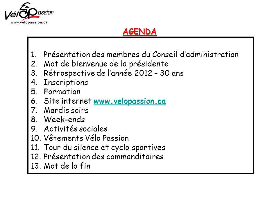 1. Présentation des membres du Conseil d'administration 2.