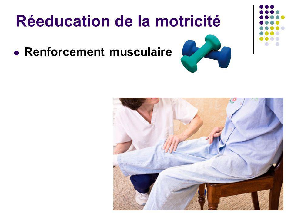 Réeducation de la motricité Renforcement musculaire