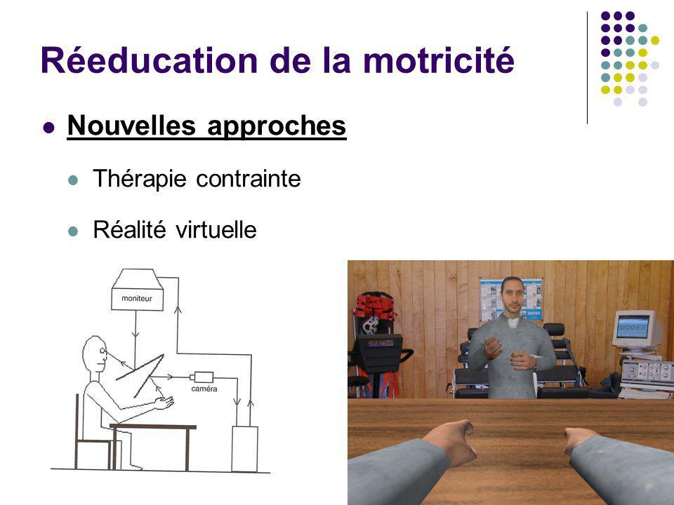 Réeducation de la motricité Nouvelles approches Thérapie contrainte Réalité virtuelle