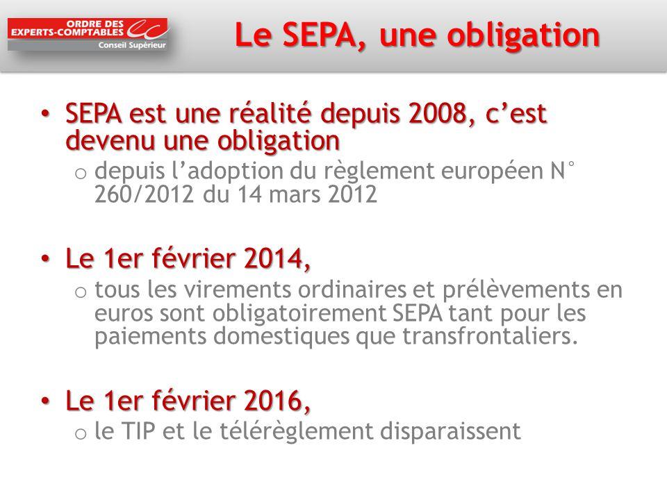 Le SEPA, une obligation SEPA est une réalité depuis 2008, c'est devenu une obligation SEPA est une réalité depuis 2008, c'est devenu une obligation o