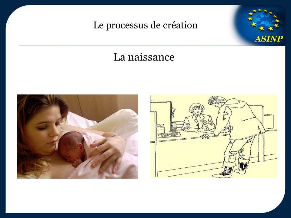 Le processus de création La naissance
