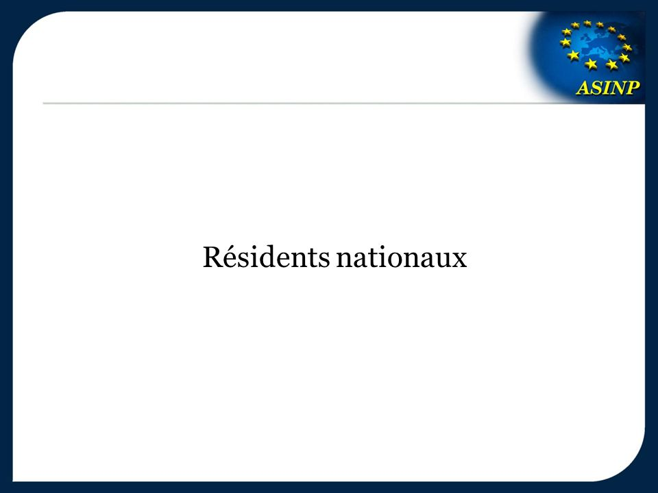 Résidents nationaux