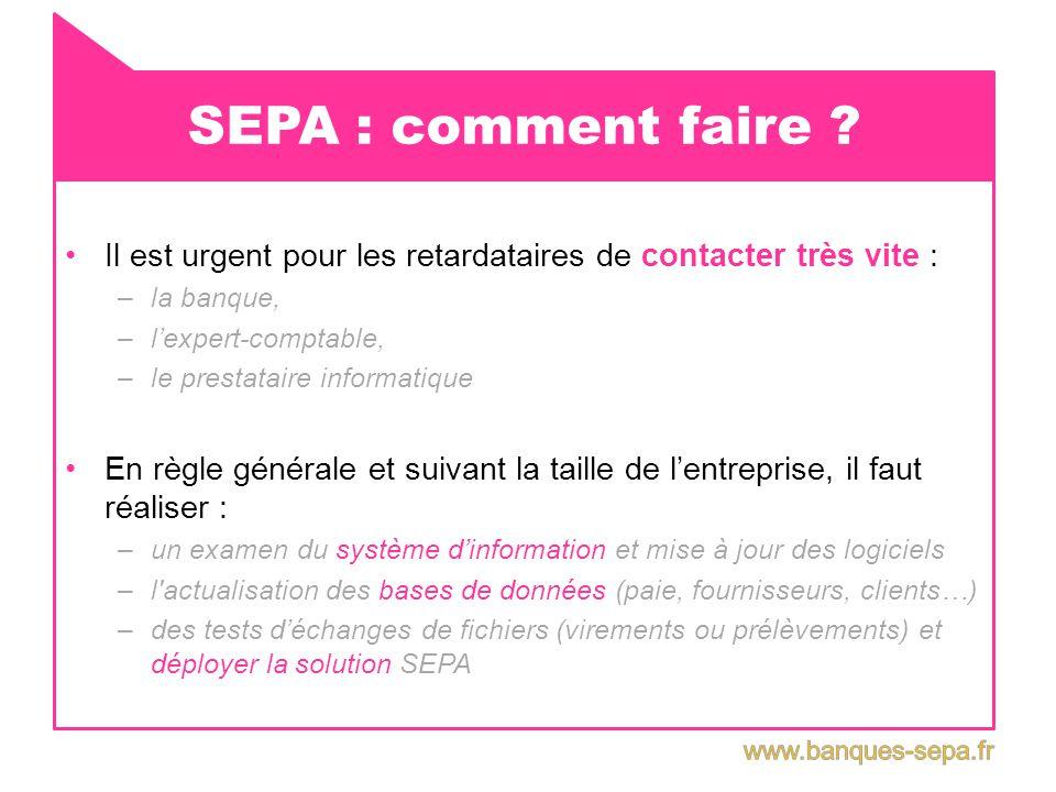 SEPA : où en sommes nous .