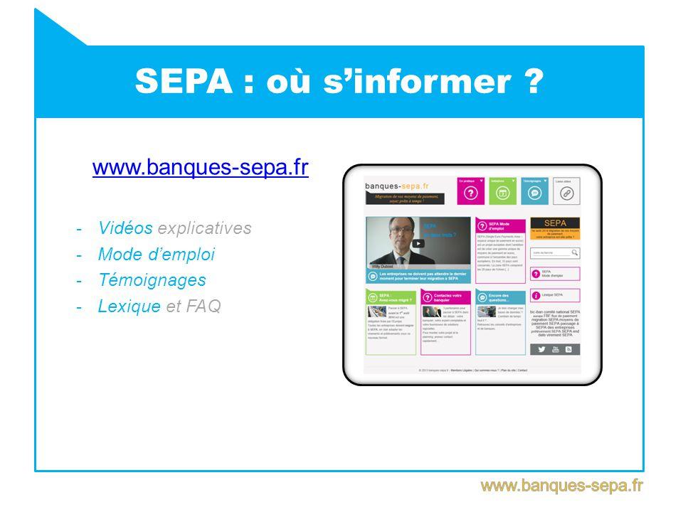 SEPA : où s'informer .