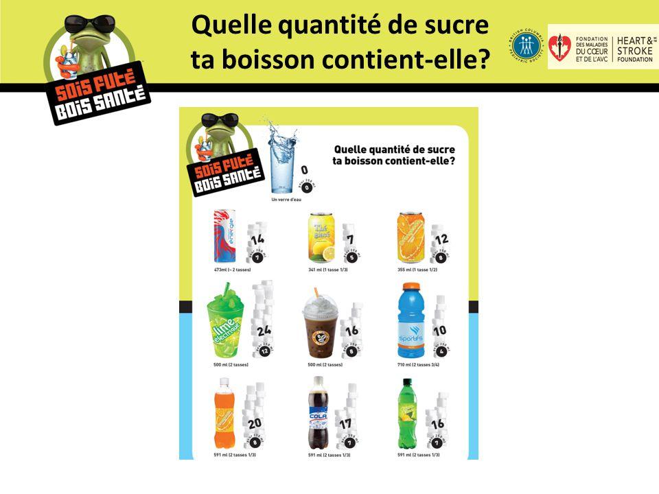 Quelle quantité de sucre ta boisson contient-elle?