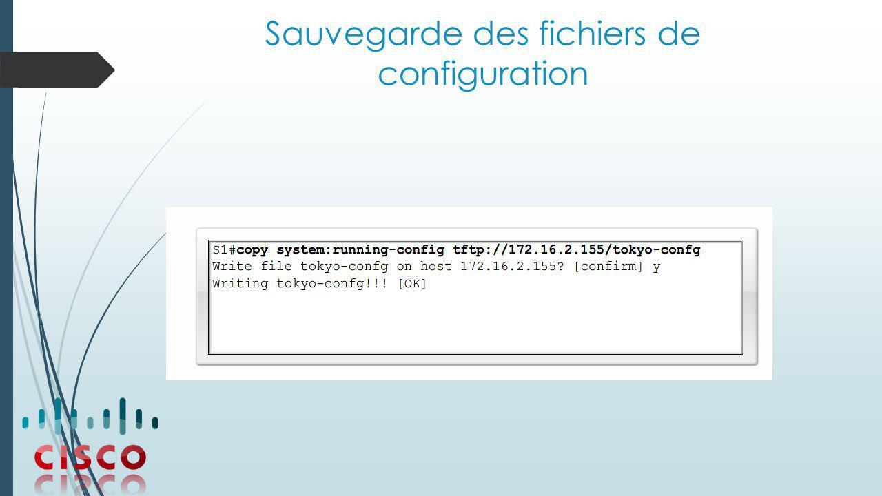 Sauvegarde des fichiers de configuration