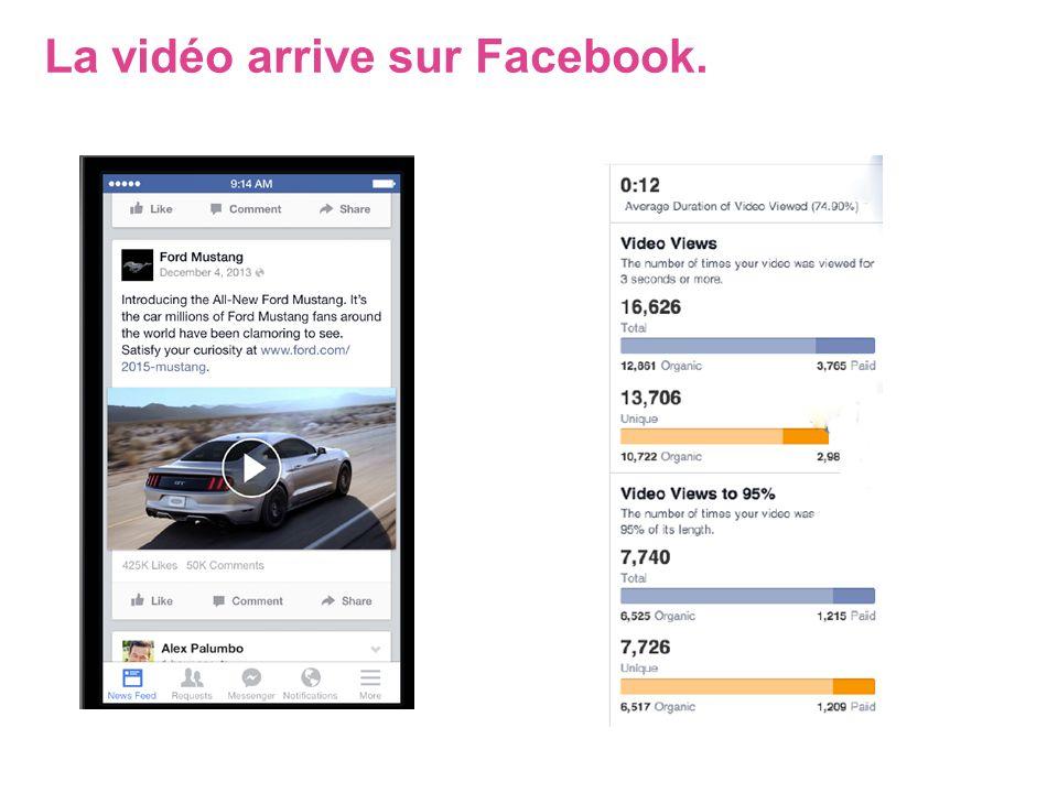 La vidéo arrive sur Facebook.