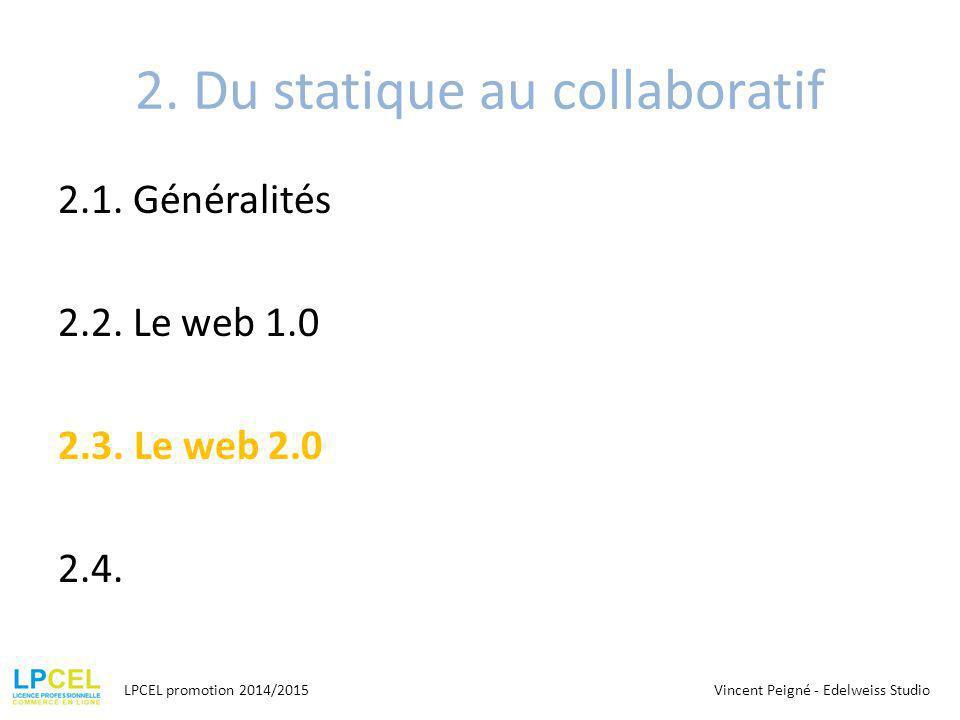 2.Du statique au collaboratif 2.1. Généralités 2.2.