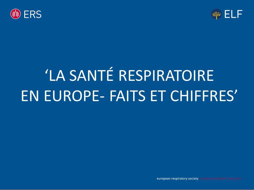 'LA SANTÉ RESPIRATOIRE EN EUROPE- FAITS ET CHIFFRES'