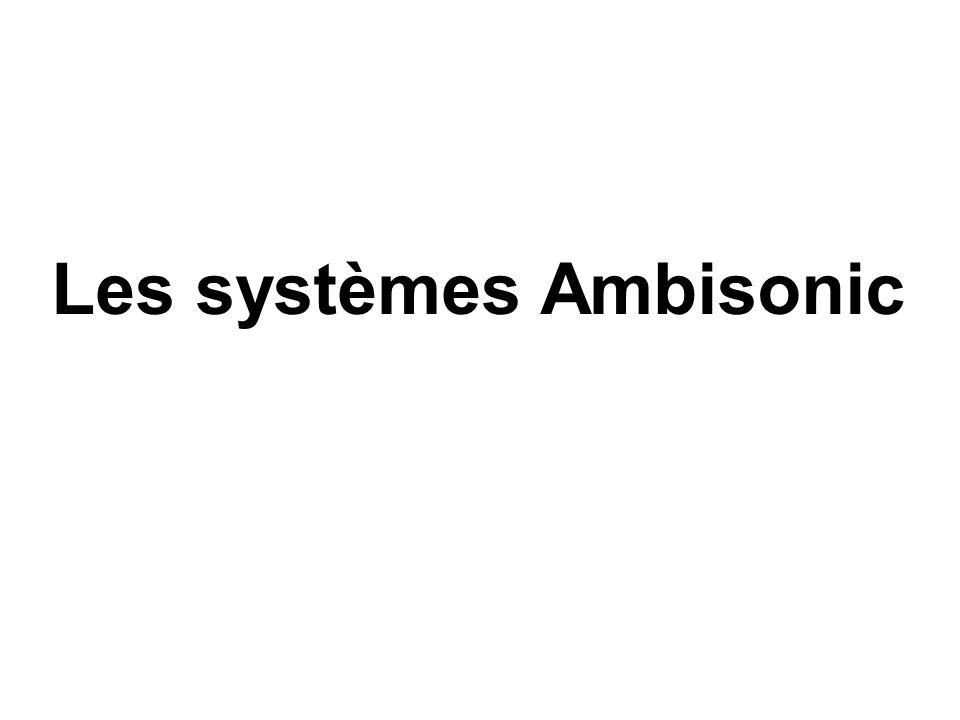Décodage Ambisonic à l'ordre 1 Application numérique : décodage pour un système 3/2/1 (M e.M e t ) -1 = M d = M e t.(M e.M e t ) -1 =