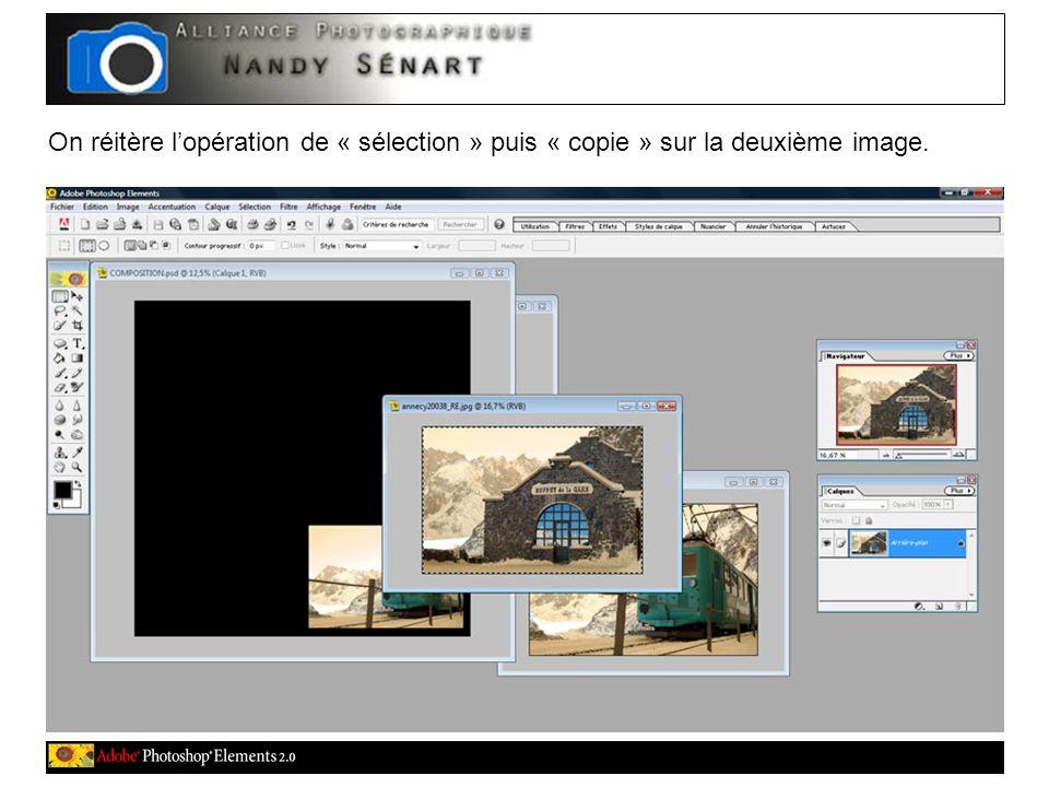 On réitère l'opération de « sélection » puis « copie » sur la deuxième image.