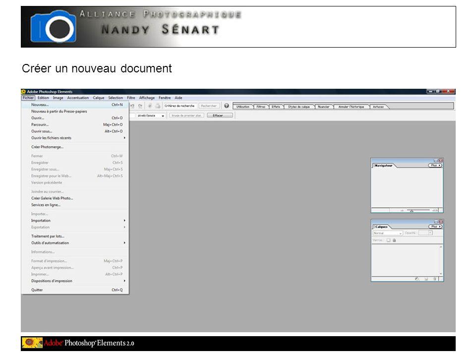 Créer un nouveau document