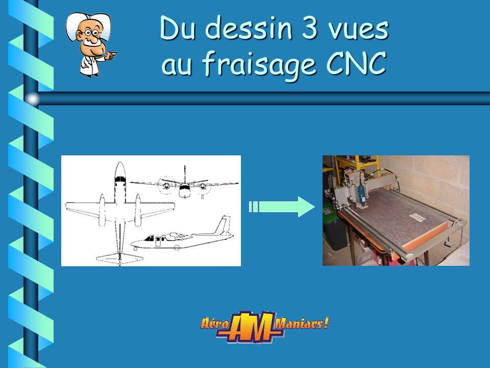 Du dessin 3 vues au fraisage CNC