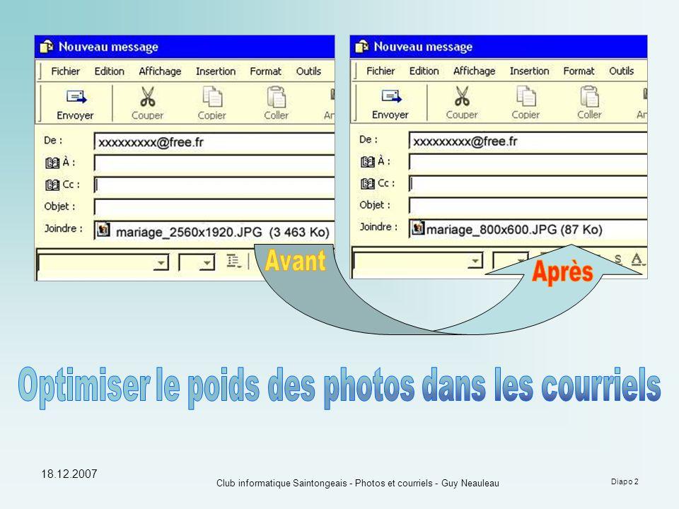 18.12.2007 Club informatique Saintongeais - Photos et courriels - Guy Neauleau Diapo 2