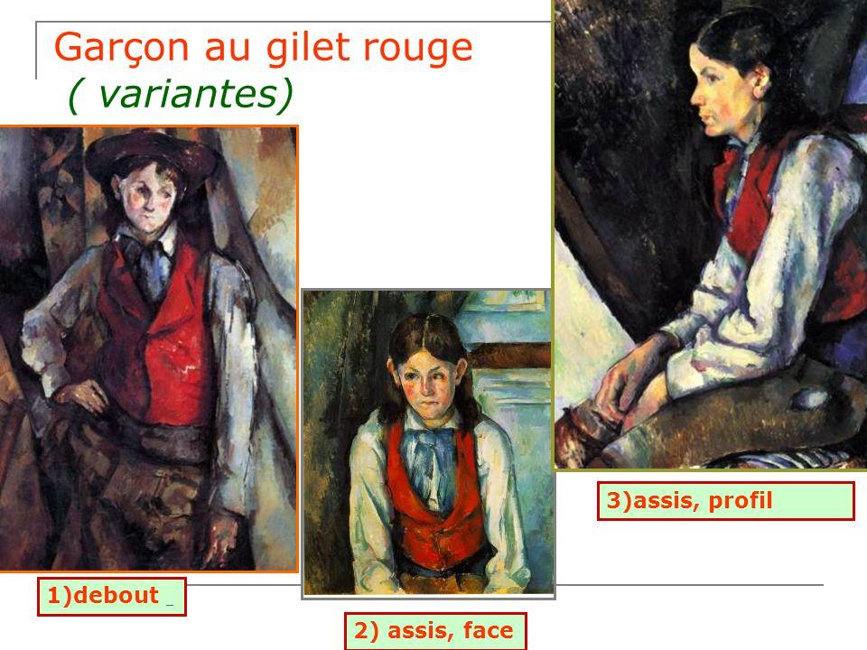"""Mon Portfolio(suite) Choisis une variante du """"Garçon au gilet rouge"""" de Paul Cézanne! Choisis l'encadré qui renferme une partie de la description! Tu"""