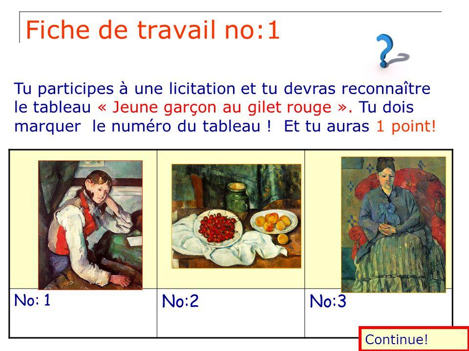 Lecture de l'image Peintres français Paul Cézanne Jeune garçon au gilet rouge