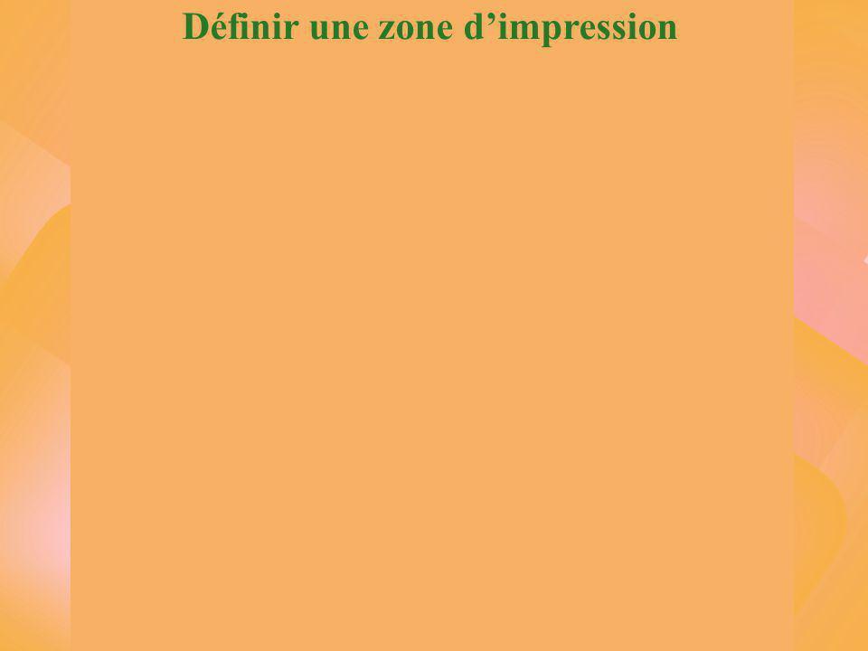 Définir une zone d'impression