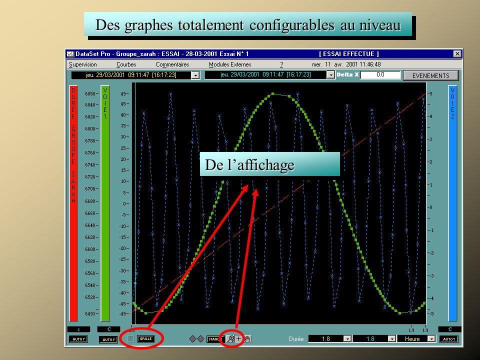 Superviser Des graphes totalement configurables au niveau De l'affichage