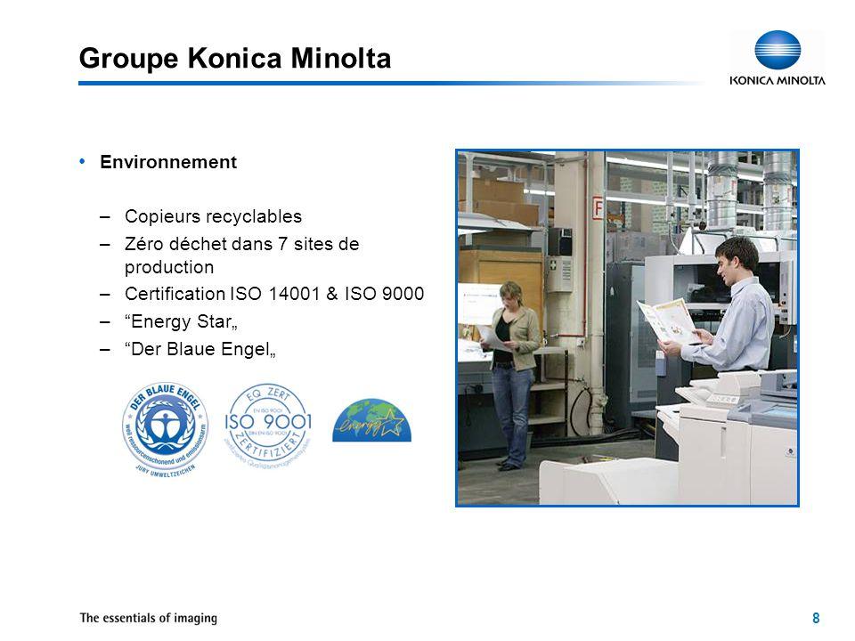 9 Zaventem Konica Minolta Business Solutions Belgique Fondé:1981Employés:approx.