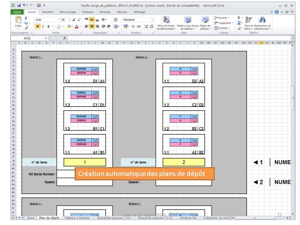 Création automatique des plans de dépôt Lyon le 10 Septembre 201411
