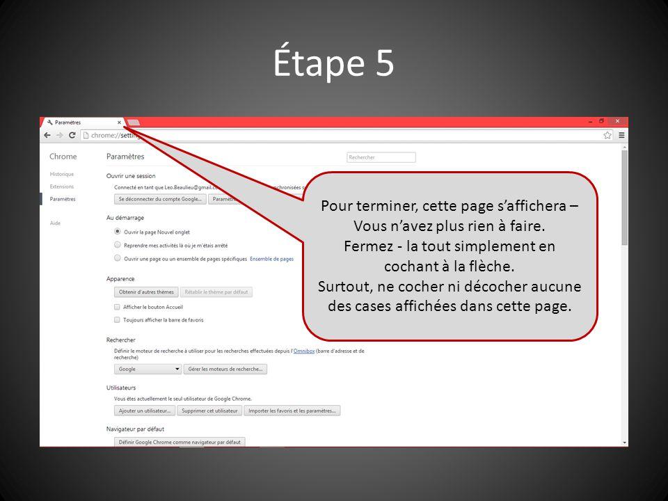 Nettoyage de l'HISTORIQUE Ces instructions sont disponibles en format PDF que vous pouvez imprimer afin de suivre les 5 étapes de nettoyage.