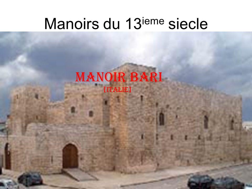 Manoirs du 13 ieme siecle Manoir bari [italie]