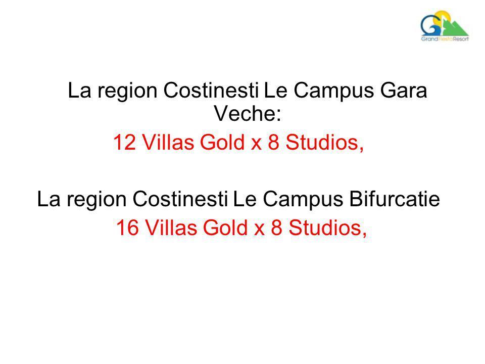 La region Costinesti Le Campus Gara Veche: 12 Villas Gold x 8 Studios, La region Costinesti Le Campus Bifurcatie 16 Villas Gold x 8 Studios,