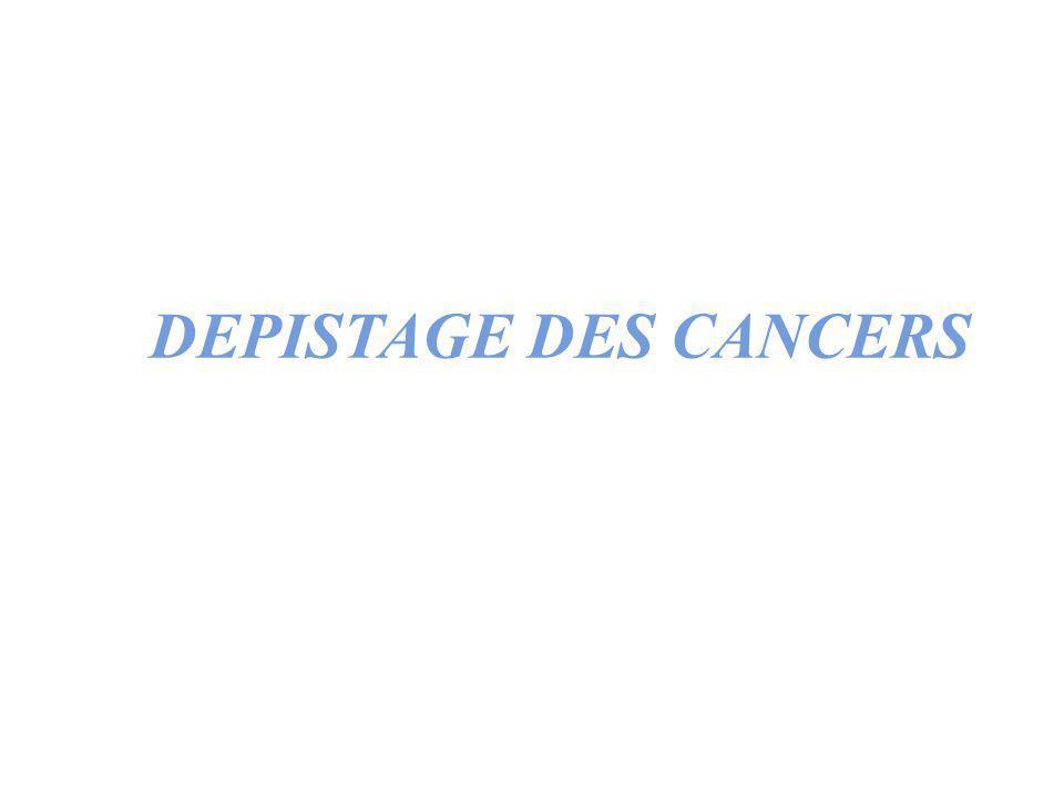 Cellule normale Cellule normale Cellule transformée Cellule transformée État précancéreux État précancéreux Cancer asymptomatique Cancer asymptomatique Cancer symptomatique Cancer symptomatique Facteurs de risques PREVENTION PRIMAIRE ET PREVENTION SECONDAIRE PREVENTION PRIMAIRE PREVENTION PRIMAIRE DEPISTAGE PREVENTION SECONDAIRE DEPISTAGE PREVENTION SECONDAIRE
