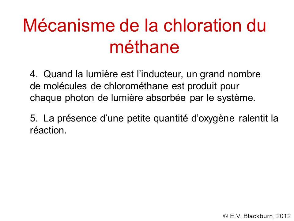 © E.V.Blackburn, 2012 Mécanisme de la chloration du méthane 5.