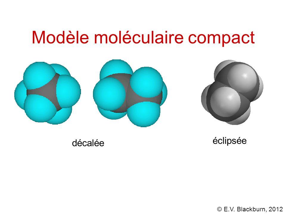 © E.V. Blackburn, 2012 Modèle moléculaire compact décalée éclipsée