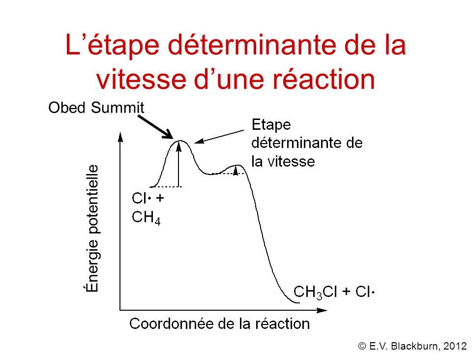 L'étape déterminante de la vitesse d'une réaction Énergie potentielle Obed Summit