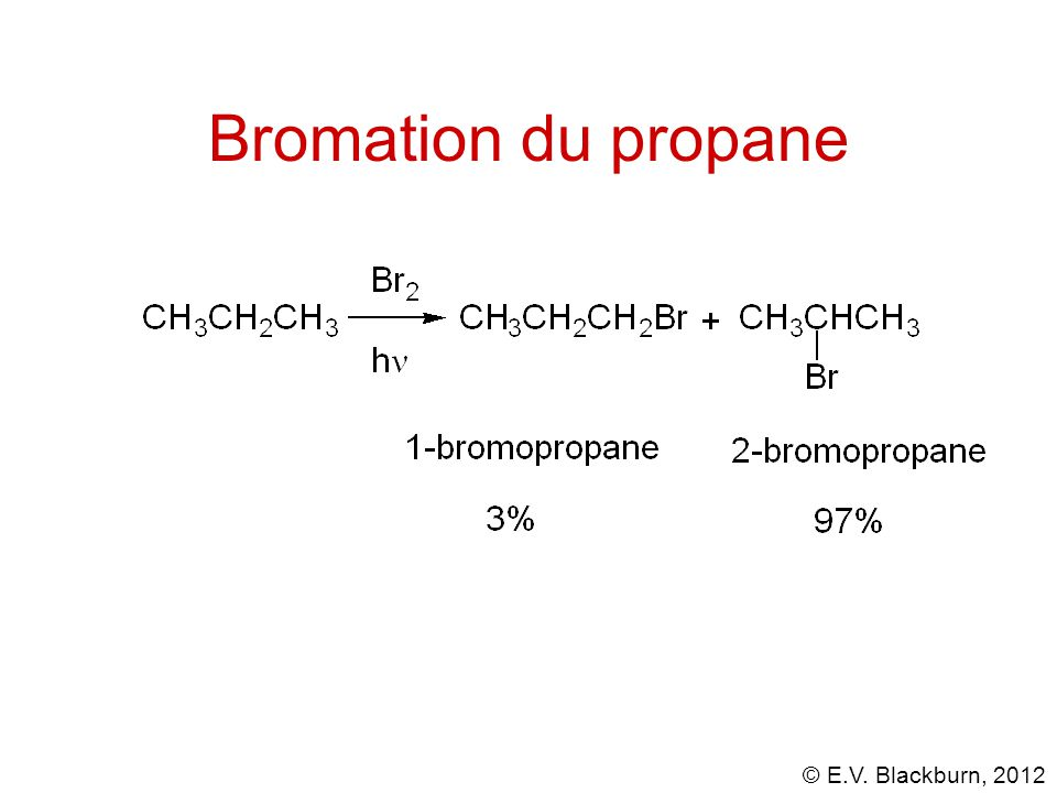 © E.V. Blackburn, 2012 Bromation du propane