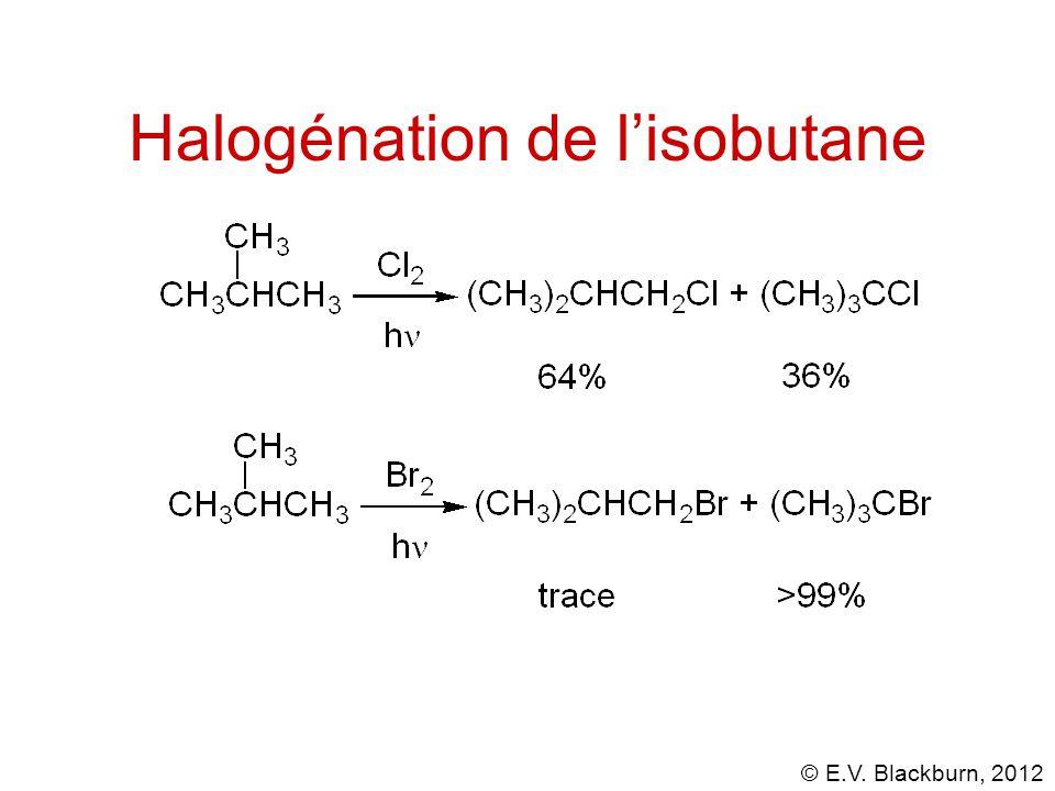 © E.V. Blackburn, 2012 Halogénation de l'isobutane