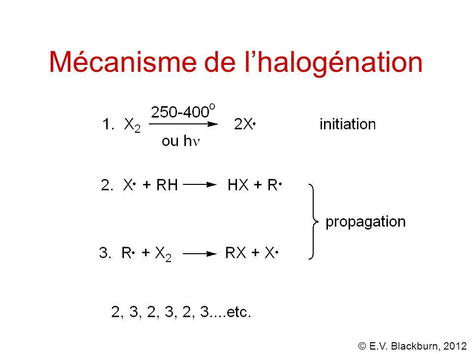 © E.V. Blackburn, 2012 Mécanisme de l'halogénation