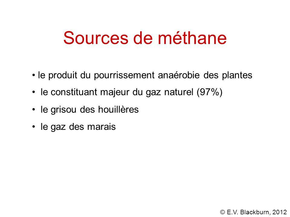 © E.V. Blackburn, 2012 Préfixes...... iso- (CH 3 ) 2 CH- isobutane