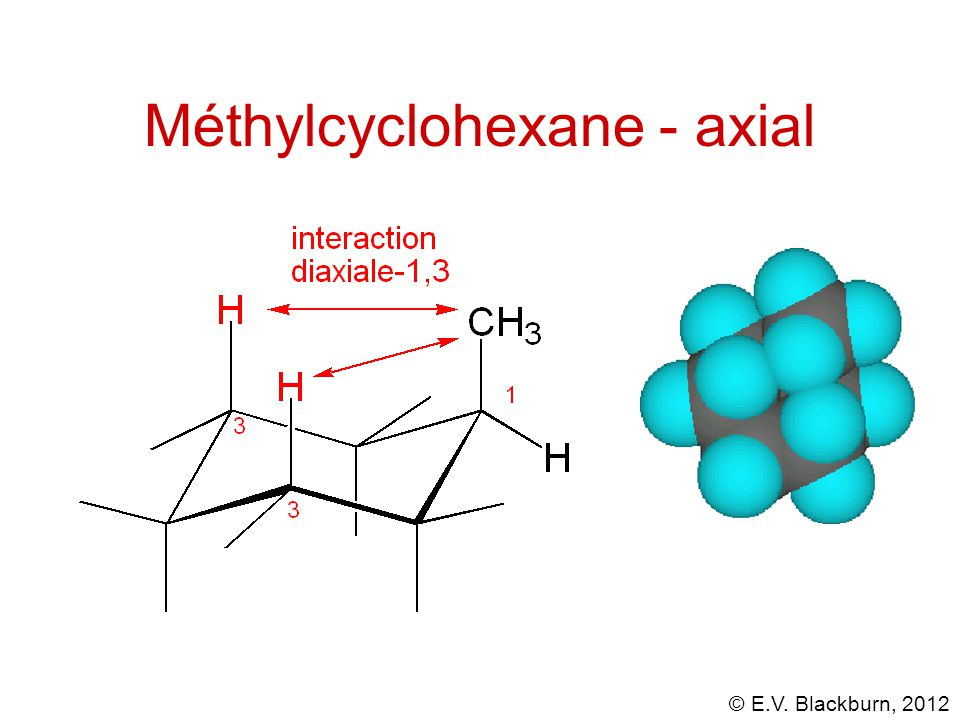 © E.V. Blackburn, 2012 Méthylcyclohexane - axial