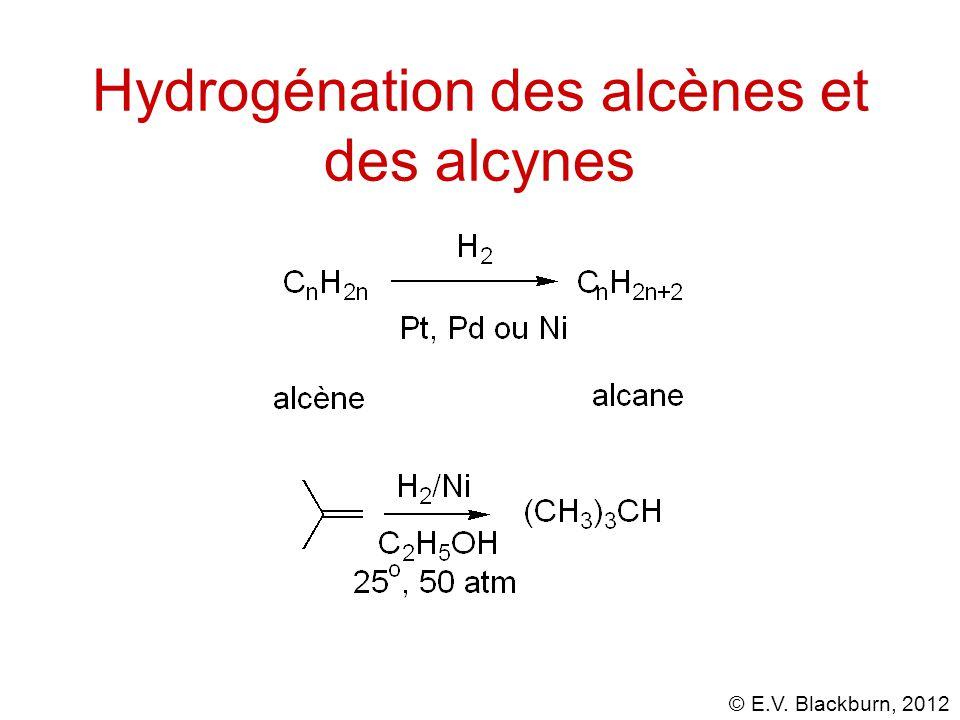 © E.V. Blackburn, 2012 Hydrogénation des alcènes et des alcynes