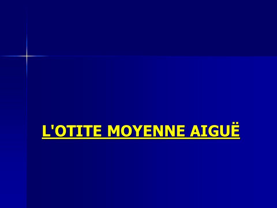 L'OTITE MOYENNE AIGUË