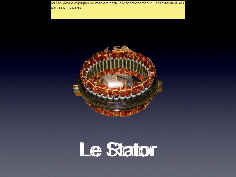 Le Rotor Le Stator Ici est prevue expliquer de manière detaille le fonctionement du alternateur et ses parties principales