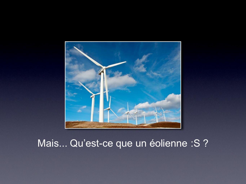 L'éolienne C'est un générateur qui transform l'énergie du vent en énergie électrique