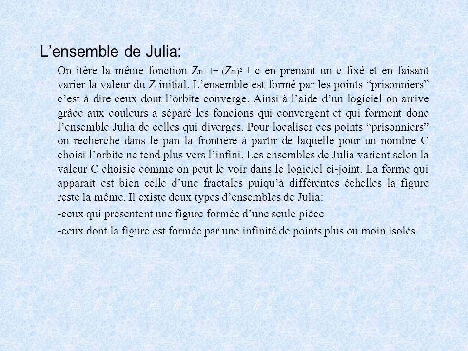 Ensembles Julia et Mandelbrot: Deux mathématiciens du début du XXème siècle, Gaston Julia et Pierre Fatou inaugurent les itérations avec les nombres c