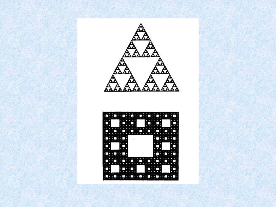 Après de nombreuses répétitions, on obtient les triangles et tapis de Sierpenski suivants: Le tapis de Sierpenski On divise un carré de coté L, en neu